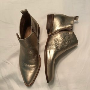 Shimmer gold booties